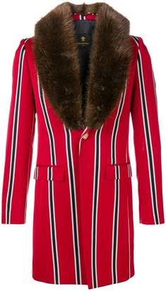 Lords And Fools Malcom fur-collar striped jacket
