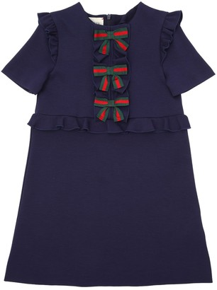 Gucci Milano Jersey A-Line Dress W/ Bows