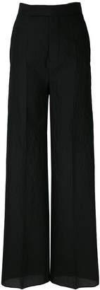 Rick Owens silk palazzo trousers