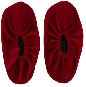 Unique Bargains Household Non-slip Washable Reusable Elastic Band Shoe Boot Covers Burgundy Pair