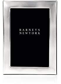 "Tizo Design Textured-Border Sterling Silver 4"" x 6"" Picture Frame-Silver"