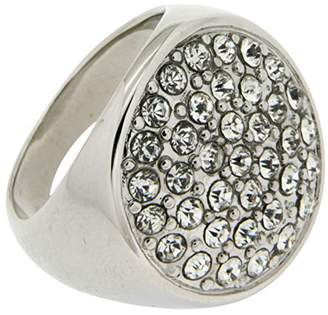 Jean Pierre Ladies 'Ring Pavé Rhodium-Plated Brass Synthetic Round White Diamonds Size 51 (16.2) HEJR1823 16 RH