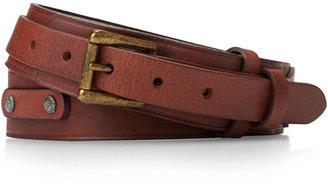 Polo Ralph Lauren Men's Tumbled-Leather Belt $128 thestylecure.com