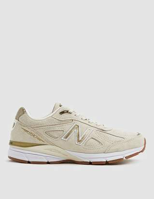 New Balance 990V4 Running Sneaker in Taupe