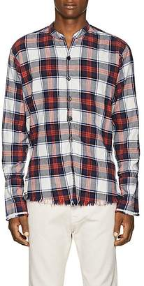 Greg Lauren Men's Plaid Cotton Flannel Studio Shirt