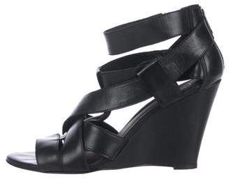 Joie Leather Cage Wedges