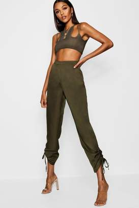boohoo Tall Ruched Side Cargo Trousers