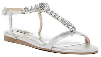 Badgley Mischka Amuse II Embellished T-Strap Sandal