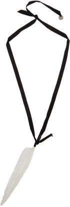 Ann Demeulemeester SSENSE Exclusive White Feather Necklace