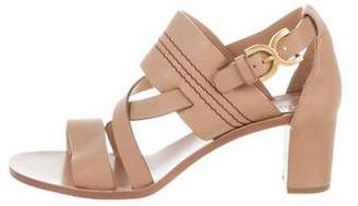 Chloé Leather Crossover Sandals