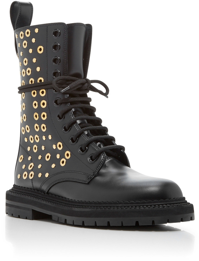 Burberry Aster Eye Lace Up Boots