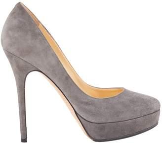 Jimmy Choo Grey Suede Heels