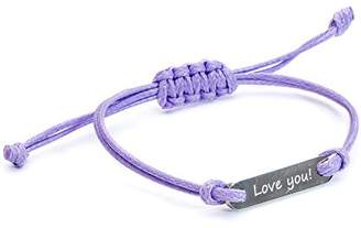 Tribal Steel Girls Purple Id Bracelet of Length 15cm Tk006 Id Love You Lilac