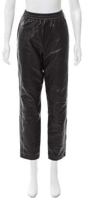 Marc by Marc Jacobs Leather Mid-Rise Pants