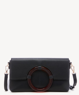 Sole Society Women's Hallie Clutch Faux Leather Black From