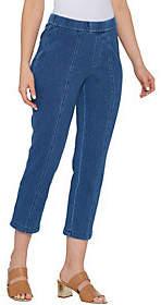 Isaac Mizrahi Live! Regular Knit Denim CropPull On Jeans