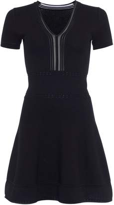 Next Womens French Connection Black Textured Fit And Flare Dress