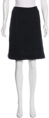 Chanel Wool Patterned Skirt