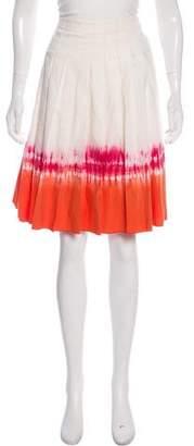 Prada Knee-Length Tie-Dye Skirt