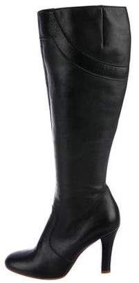 Marc by Marc Jacobs Leather Round-Toe Boots