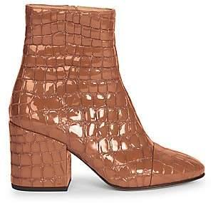 Dries Van Noten Women's Crocodile Print Leather Bootie