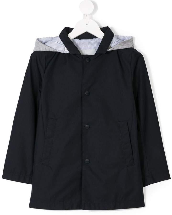 Herno Kids detachable-hood coach jacket