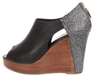Rebecca Minkoff Cutout Wedge Booties