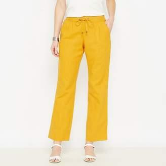 Anne Weyburn Wide Leg, Linen Rich Trousers