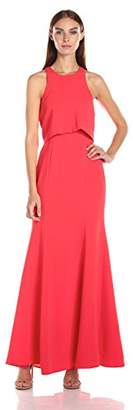 BCBGMAXAZRIA Azria Women's Louella Woven Evening Dress,6