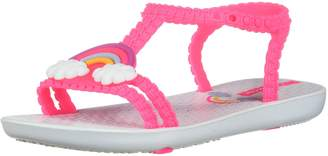 Ipanema Girl's My First Baby III Sandals, White/Pink Neon
