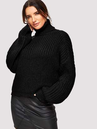 Shein Turtle Neck Chunky Knit Jumper
