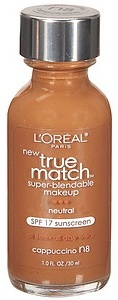 L'Oreal True Match Foundation, Cappuccino N8