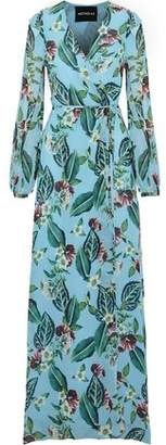 Nicholas Floral-Print Silk-Georgette Maxi Wrap Dress
