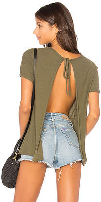 Nation LTD Winona Sliced Tie Back Tee in Green $75 thestylecure.com
