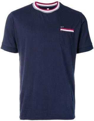 Sun 68 stripe detail T-shirt