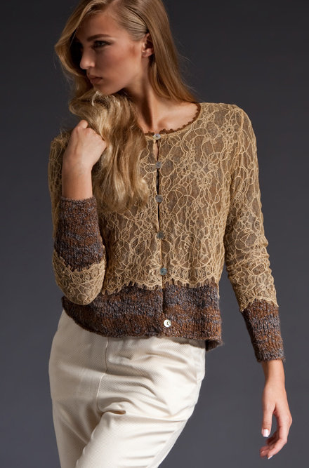 Rachel Comey Lace Overlay Sweater
