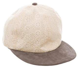 Eugenia Kim Leather Perforated Baseball Cap