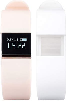 IFITNESS Ifitness Activity Tracker Rose Gold/Blush And White Interchangeable Band Unisex Multicolor Smart Watch-Ift2430bk668-694
