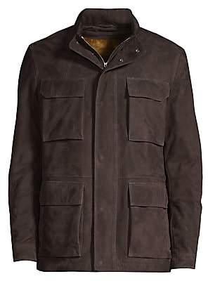 Corneliani Men's Suede Safari Jacket