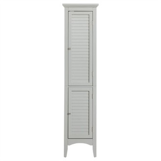 "Elegant Home Fashions 63""H Glancy Linen Tower With Shutter Doors"