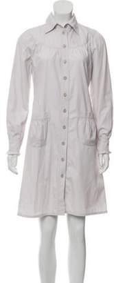 Miu Miu Knee-Length Shirt Dress grey Knee-Length Shirt Dress