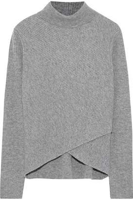 Iris and Ink Tina Ribbed Wool And Cashmere-Blend Turtleneck Sweater