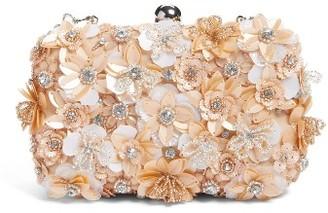 Glint Floral Applique Minaudiere - Pink $99 thestylecure.com
