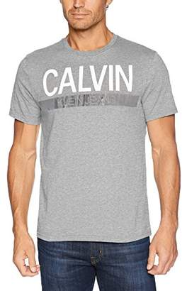 Calvin Klein Jeans Men's Short Sleeve T-Shirt Knockout Stripe Logo