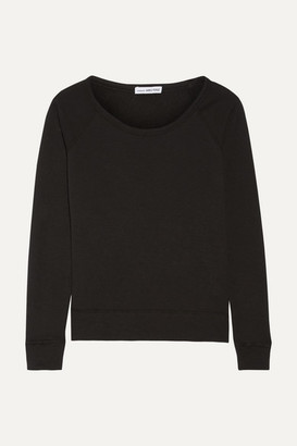 James Perse Vintage Supima Cotton-terry Top - Black