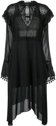 Philosophy di Lorenzo Serafini crochet detail sheer dress