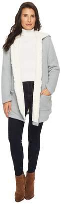 Mod-o-doc Sweater and Faux Fur Reversible Cardigan Jacket Women's Coat