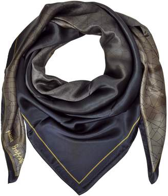 Laura Biagiotti Shaded Geometric Printed Silk Shawl