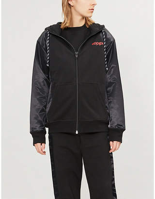 Alexander Wang Adidas X Logo-print cotton and satin hoody