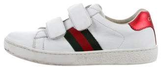 Gucci Boys' Leather Web-Trimmed Sneakers